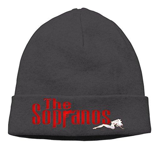 ASAS The Sopranos Woolen Hats/Plush Hat/Head Cap Black