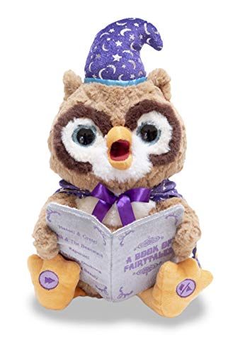 Cuddle Barn | Octavius The Storytelling Owl 12' Animated Stuffed Animal Plush Toy | Eyes Light Up, Mouth Moves and Head Sways | Wizard Owl Recites 5 Fairy-Tales