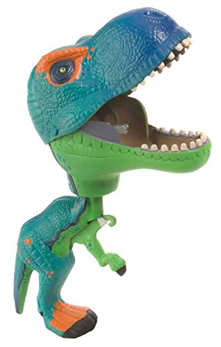 Wild Republic T-Rex Toy, Gifts for Kids, Squeeze trigger to close mouth, Green Chompers 9.5 Inches
