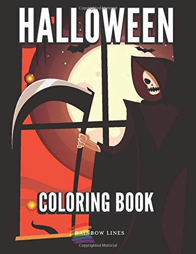 Halloween: Happy Coloring Book with Unique Designs of Witches, Magical Potions, Scary Pumpkins, Dracula and Zombies Scenes for Kids