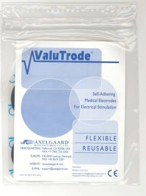 ValuTrode CFF203 2 in. X 3.5 in. Rect., Pigtail Foam Top, Reusable Electrodes 4 Per Pkg 10 PACKS