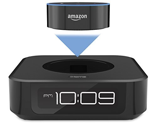 iHome iAVS1 Bedside Stereo Speaker System for Amazon Echo Dot [Dot sold separately]