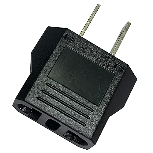 European to US Plug Adapter, AOGITKE EU to USA Plug Adapter Converter, Euro to American Outlet Plug Adapter, Travel Europe German, France, Switzerland to US Adaptor - Type B ( Black )