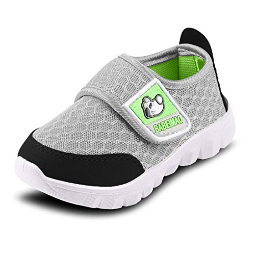 Baby Sneaker Shoes for Girls Boy Kids Breathable Mesh Light Weight Athletic Running Walking Casual Shoes, Grey, 5.5 Toddler