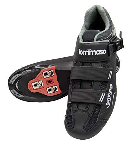 Tommaso Strada 200 Dual Cleat Compatible Spin Class Ready Bike Shoe - Look Delta - 41 Black