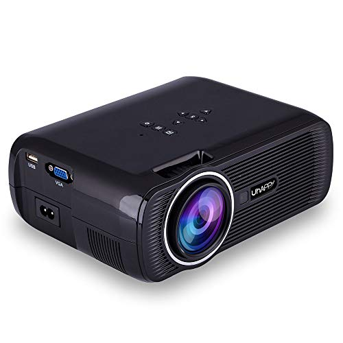 ELEOPTION LED Projector 1080P, Full HD Video Movie Projector for Business PowerPoint Presentation Home Theater, Compatible with Laptop iPhone Android TV WiFi VGA HDMI USB Fire (Black)