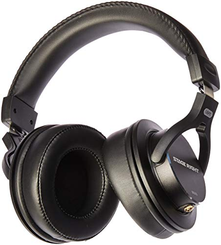 Monoprice Multimedia Studio Reference Monitor Headphones - 53mm (Closed-Back) Ideal for Recording, Mixing, Mastering, and Monitoring - Stage Right