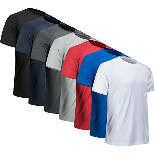 MCPORO Workout Shirts for Men Short Sleeve Quick Dry Athletic Gym Active T Shirt Moisture Wicking