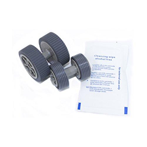 Yanzeo PA03540-0001 PA03540-0002 Brake Pick Up Roller for Fi-6125 Fi-6225Fi-6130 Fi-6130z Fi-6140 Fi-6140Z Fi-6230 Fi-6240Z with Clean Wipe