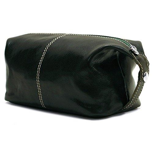 Floto Venezia Travel Kit Leather Toiletry Shave Dopp Bag