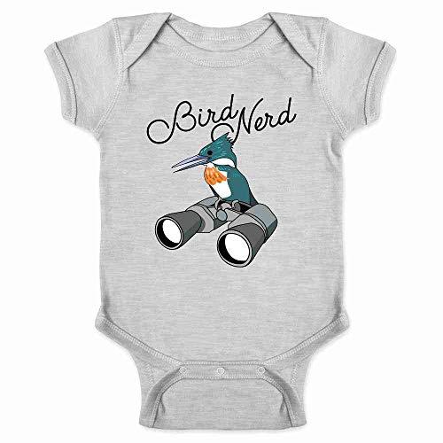 Bird Nerd Birdwatching Cute Funny Gray 6M Infant Baby Boy Girl Bodysuit