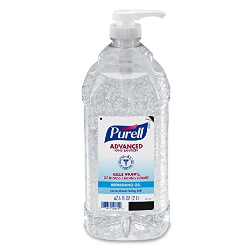 PURELL Advanced Hand Sanitizer Refreshing Gel, Clean Scent, 2 Liter pump bottle (Pack of 1) – 9625-04