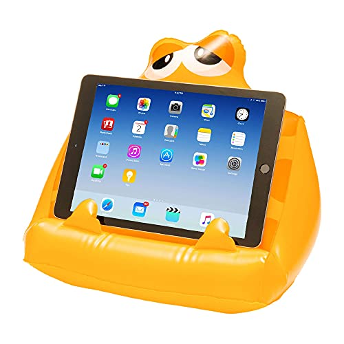 Bookmonster Air Inflatable Book Stand Support Kids Reading Rest iPad Tablet eReader Kindle Smartphone Lap Holder Gift Travel Beach Holiday - Sammy The Smiler