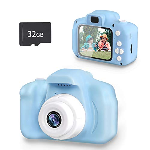 Kids Camera for Boys Girls,SZREDU Toys Digital 1080P HD Video Camera for Toddler,Birthday for 3 4 5 6 7 8 Year Old with 32GB SD Card