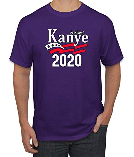 President Kanye 2020 Vote Kanye | Mens Political Graphic T-Shirt, Purple, X-Large