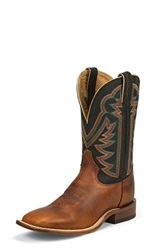 Tony Lama Men's Faded Ranch Cowboy Boot Square Toe Tan 9 EE US