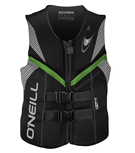 O'Neill  Men's Reactor USCG Life Vest BLKLUNDGLO SM, Black/Lunar/Day-Glo,Small