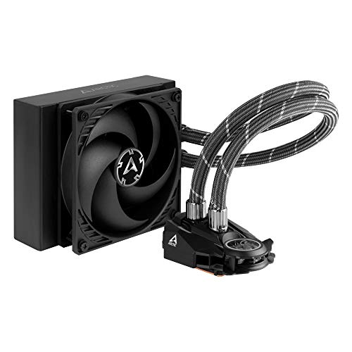 ARCTIC Liquid Freezer II 120 - Multi Compatible All-in-One CPU AIO Water Cooler, Compatible with Intel & AMD, Efficient PWM Controlled Pump, Fan Speed: 200-1800 RPM (Controlled via PWM) - Black