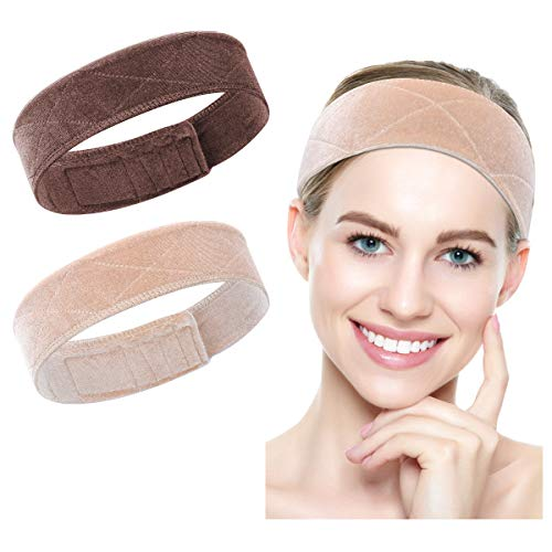 Wig Grip Band – 2 Pcs Velvet Wig Headband Women Non Slip Elastic Hair Bands Adjustable With Magic Tape For Holding Wig