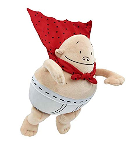 MerryMakers Captain Underpants Soft Superhero Toy, 10-Inch, from The bestselling Comic Book Series by Dav Pilkey