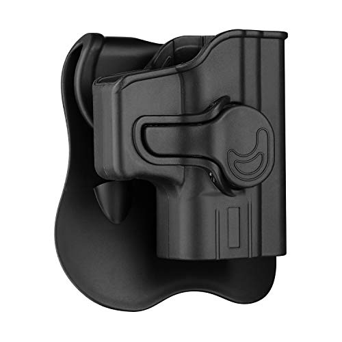 Glock 43 Holster OWB, Outside The Waistband Concealed Carry Paddle Holster Fit Glock 43, Tactical Polymer Pistol Gun Holster with 360° Adjustable-RH