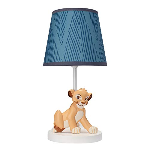 Lambs & Ivy Lion King Adventure Lamp with Shade & Bulb, Blue