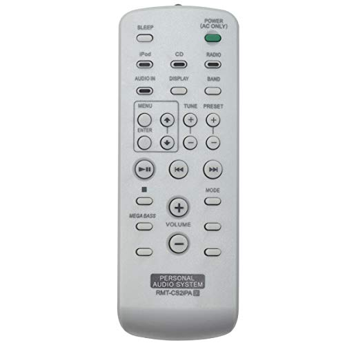 New RMT-CS2iPA Replace Remote Control for Sony Audio System ZS-S4iP ZS-S2iP