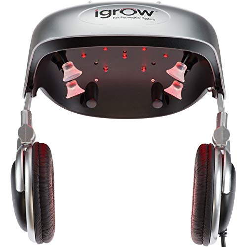 iGrow Laser Hair Growth Helmet: Restoration & Regrowth Treatment System for Hair Loss - Natural Thinning, Balding, and Alopecia Solution for Men and Women - FDA Cleared Low Level Laser Device