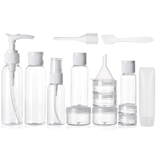ALINK Travel Size Toiletry Bottles Set, TSA Approved Clear Cosmetic Makeup Liquid Containers with Zipper Bag
