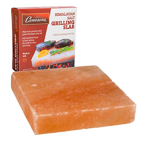 Himalayan Pink Salt Slab Block for BBQ Grilling (Large 8' x 8')- FDA Approved Barbecue Cooking Grilling Stone Plate- Pure, All Natural (Packaging May Vary)
