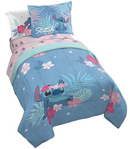 Jay Franco Disney Lilo & Stitch Paradise Dream 7 Piece Full Bed Set - Includes Reversible Comforter & Sheet Set Bedding - Super Soft Fade Resistant Microfiber (Official Disney Product)