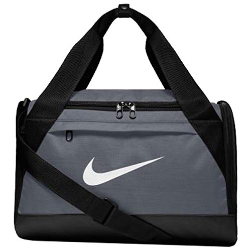 Nike Brasilia Training Duffel Bag, XS - Flint Grey/ Black/ White, 16' x 9' x 10'