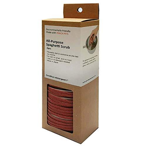 Goodbye Detergent Latest Design All Purpose Spaghetti Scrub, 2 Per Box