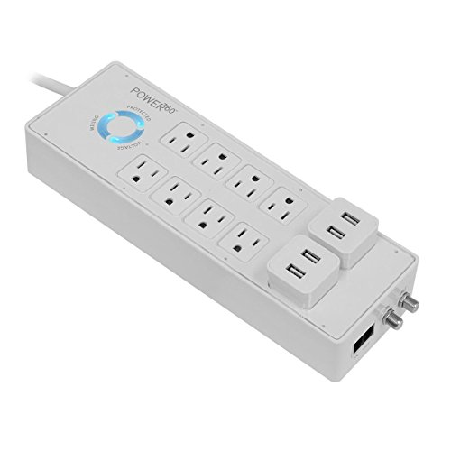 Panamax P360-8, 8-Outlet Floor Surge Protector/Charging Station