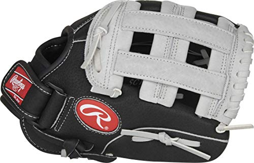 Rawlings Sure Catch Series Youth Baseball Glove, Pro H Web, 11 inch, Right Hand Throw , Black/Gray