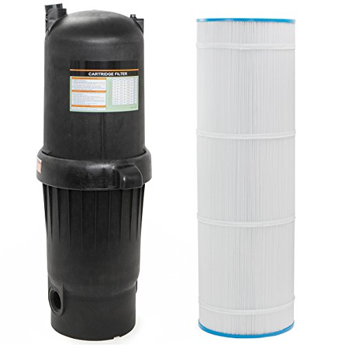 XtremepowerUS 120sqf Pool Cartridge Filter, In-Ground Swimming Pool and Spa