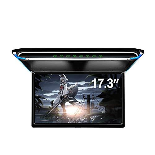 17.3' Car Overhead Flip Down Monitor Screen Dispaly 1080P Video HD Digital TFT Screen Wide Screen Ultra-Thin Mounted Car Roof Player HDMI IR FM USB SD
