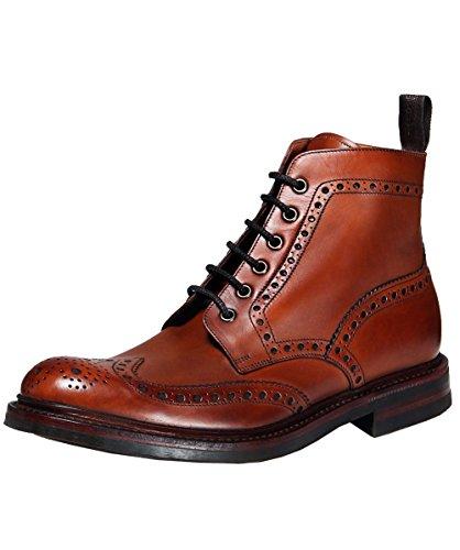 Loake Mens Burnished Calf Bedale Leather Brown Boots 9 US