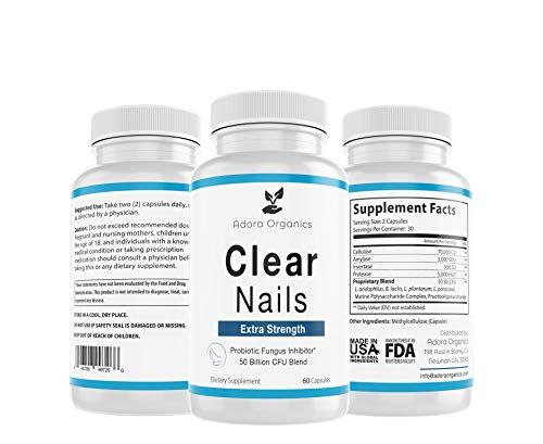 Clear Nails - Extra Strength - Probiotic Fungus Inhibitor - 50 Billion CFU