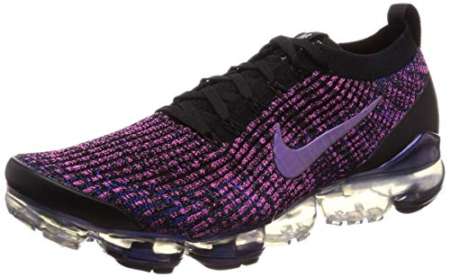 Nike Men's Air Vapormax Flyknit 3 Black/Racer Blue/Laser Fuchsia Nylon Running Shoes 11.5 M US