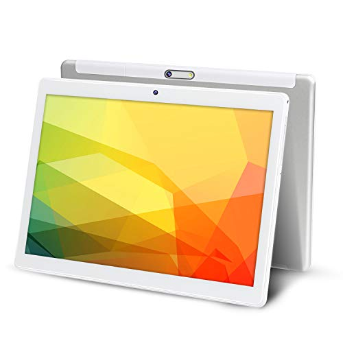 10 inch Tablet Android 9.0 Pie 32GB Storage 5Ghz WiFi Tablets Octa-Core Processor 1920x1200 FHD Tablets 2MP+ 5MP Camera Google Tablet PC White