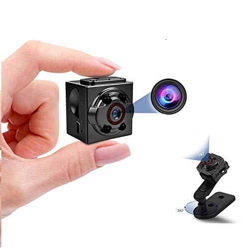 Hidden Mini Spy Camera, 1080P Full HD Nanny Cam, Night Vision & Motion Activation for Indoor Outdoor Portable Secret Surveillance Covert Security Small Cameras