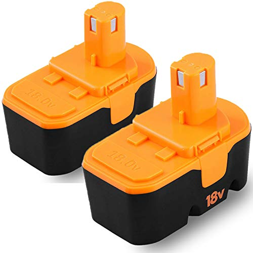 P100 18V Replacement for Ryobi 18V Battery One+ Compatible with P101 ABP1801 ABP1803 BPP1820 130224028 130224007 2-Packs