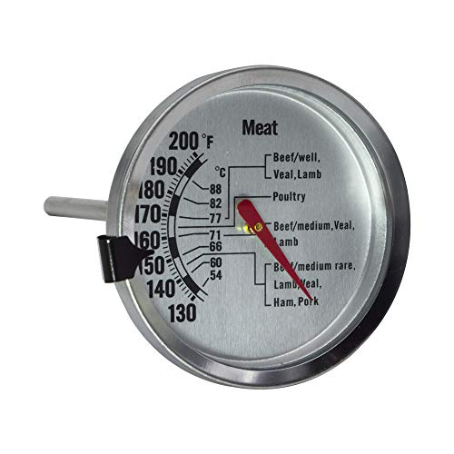 Chef Select Leave-in Meat Thermometer, Large Dial, Stainless Steel