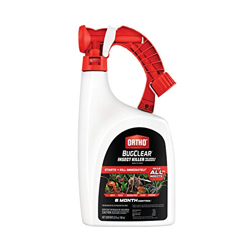 Ortho BugClear Insect Killer for Lawns & Landscapes Ready to Spray - Kills Ants, Spiders, Fleas, Ticks & Other Insects, Outdoor Bug Spray for up to 6 Month Insect Control, 32 oz.