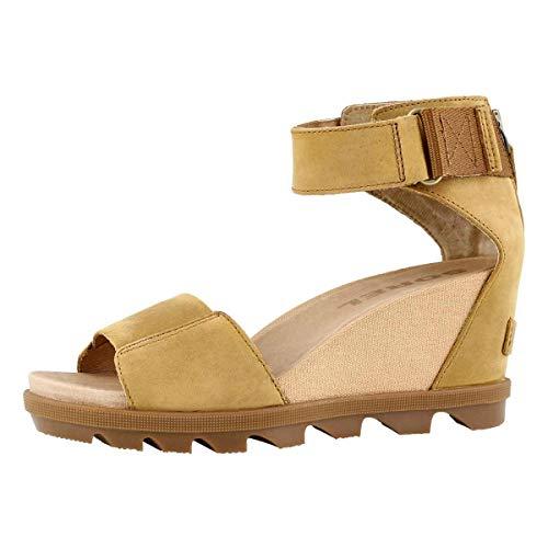 Sorel Joanie II Ankle Strap Camel Brown Full Grain Leather 7.5