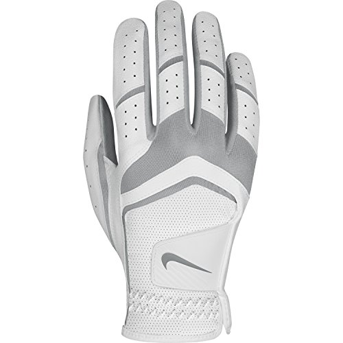 Nike Women's Dura Feel Golf Glove (White), Large, Right Hand