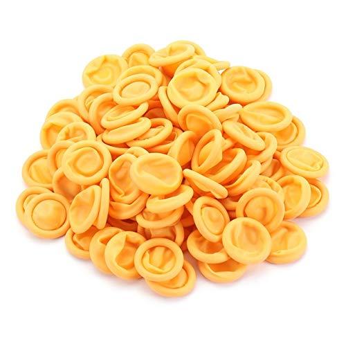 1000 Pcs Disposable Fingertips Protector Gloves Rubber Non-Slip Finger Cover Cots Black/Pink/White/Yellow/Orange for Handmade, Industrial Apply (Color : Orange)