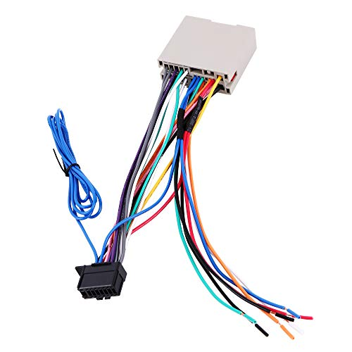 BASIKER Stereo Radio Wiring Harness for Pioneer Amp/SWC Plug Connector Fit for 2004-2013 Ford F150 Escape Focus, 2006-2010 Lincoln Town Car