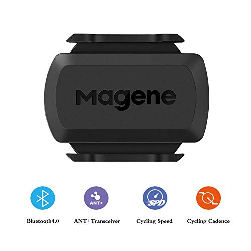 Magene S3+ Cycling Speed or Cadence Sensor, ANT+ and Buletooth 4.0 Wireless Bicycle RPM Sensor